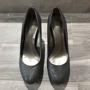 "Tahari Shoes - Tahari womens Grey sequin 3"" heel, 1/2 platform!"